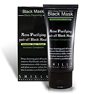 Shills Black Mask Deep Cleansing Purifying Peel-off Mask, 50ml with Extractor & Pore Strip