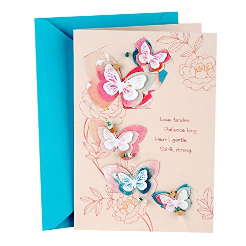 Hallmark Signature Mother's Day Greeting Card (Removable Butterfly Decoration)