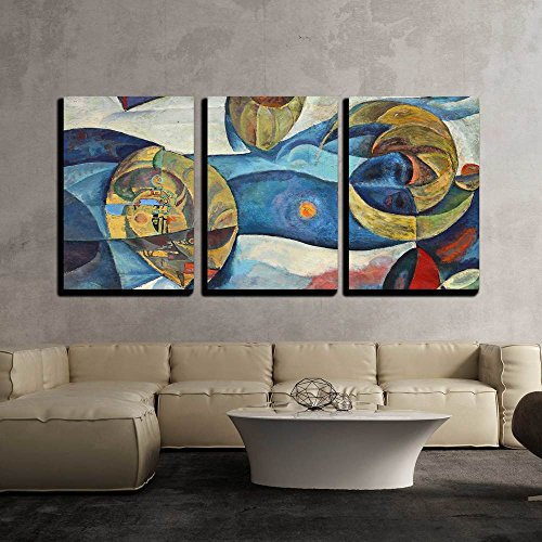 Form Panel 3 - wall26 - 3 Piece Canvas Wall Art - The Art of Abstraction - Modern Home Decor Stretched and Framed Ready to Hang - 24