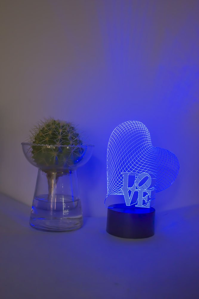 Loveboat USB Powered 7 Colors Amazing Optical Illusion 3D Glow LED Lamp Art Sculpture Lights Produces Unique Lighting Effects and 3D Visualization for Home Decor (LOVE) by Loveboat (Image #7)