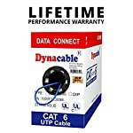 DynaCable Ethernet Bare Copper Cat6 LAN Cable, 1000ft 23AWG 550MHz UTP Solid, cm in Wall Rated, UL Listed, Up to 10 GB… 7 INDUSTRY PREFERRED HIGH PERFORMANCE CAT6 23 AWG, In-Wall CM-Rated Ethernet Bulk Cable is an ideal choice for wiring your home, office, school or any project for a high-speed network. Complies with big industry standards! UL Listed (E467035), Rohs, TIA and BICSI NEW SMART PACKAGING - Box is enclosed on the front and not the side like other boxes in the market, this means less kinks and it won't split open! VERSATILE USE - Compatible with 10/100 Base-T networks and feature enhanced 550 MHz bandwidth for distributing data, voice, and video at high-speeds. A wired Cat 6 network is more reliable and secure than a wireless network for your internet connections