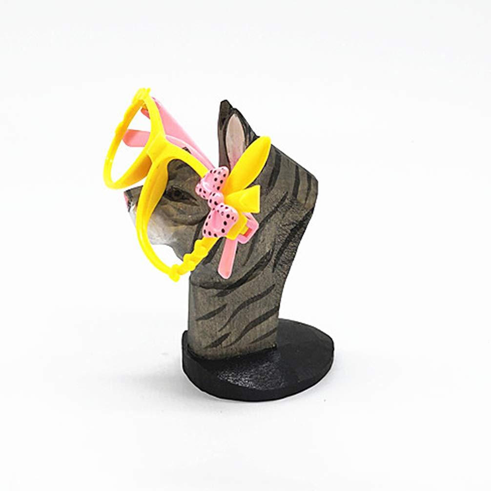 NUOBESTY Holzbrillen Stehen Tier Brillenhalter Brillenhalter Sonnenbrille Rack f/ür Home Shop Sonnenbrille Veranstalter Display