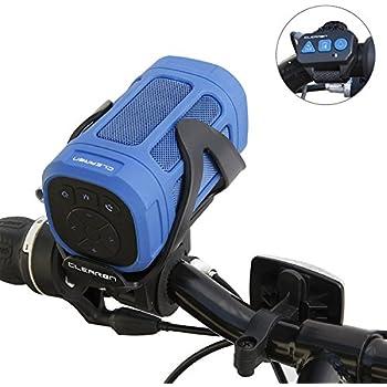 6ce64d5de30 Portable Bluetooth 4.0 Speaker by CLEARON – Wireless Waterproof Speaker  with Bike Mount   Remote – Premium Sound Quality   Loud 8W Mini Speaker –  15 Hours ...