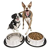 PETSCATCH-Stainless-Steel-Dog-Bowls-with-Rubber-Base-32-Ounce-Set-of-2