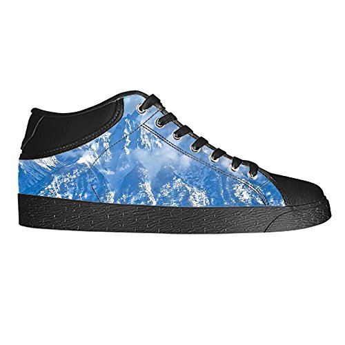 Dalliy schneebedeckte Berge Mens Canvas shoes Schuhe Lace-up High-top Sneakers Segeltuchschuhe Leinwand-Schuh-Turnschuhe B