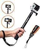 FloatPro Waterproof 3-in-1 Extendable Monopod Selfie Stick with Float Accessories and Wrist Strap for GoPro
