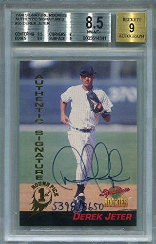 (Derek Jeter New York Yankees BGS Certified Authentic Autograph - 1994 Signature Rookies (Autographed Baseball Cards))