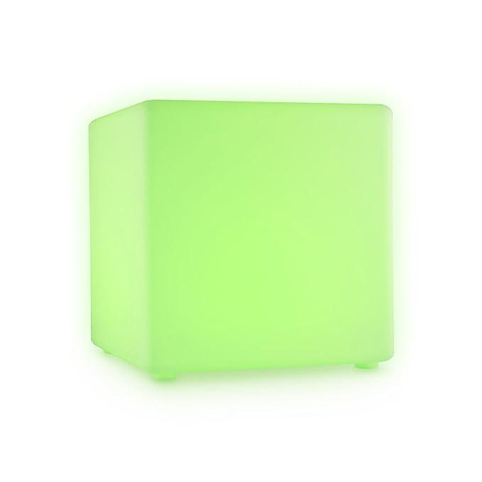 11 opinioni per Blumfeldt Shinecube Cubo LED Sgabello Luminoso 30x30x30cm