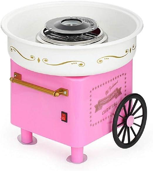 UFLIZOGH Máquinas Profesional de Algodón de Azúcar para Niños Regalos de Juguete para Fiestas Cocinas Casas Rosa 30x30x28cm: Amazon.es