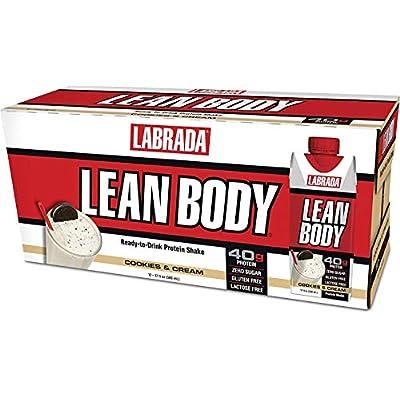 Labrada Nutrition Lean Body RTD, 12 - 17 fl oz (500) ml shakes, Cookies & Cream