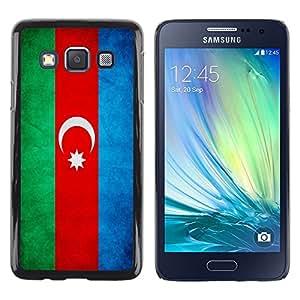 TopCaseStore / la caja del caucho duro de la cubierta de protección de la piel - Azerbaijan Grunge Flag - Samsung Galaxy A3 SM-A300
