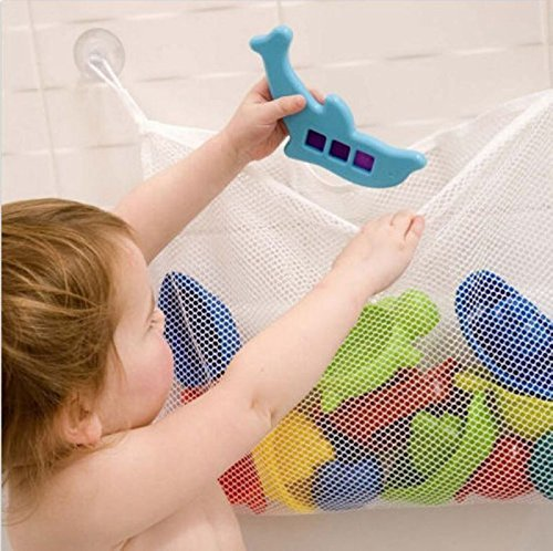 Universal White Hanging Mesh Net Toy Organizer For Kids Bath w/ Suction Cup by KarenDeals