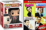 Teddy Bean Rowan Atkinson stars in the 4 Comedy Pack Mr. Bean's Holiday / Bean The Movie / Spy Johnny English / Reborn + Funny Man Pop! Figure Silly Toy Vinyl Collectible