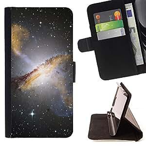 - Space Planet Galaxy Stars 1 - - Prima caja de la PU billetera de cuero con ranuras para tarjetas, efectivo desmontable correa para l Funny HouseFOR Samsung Galaxy S4 IV I9500