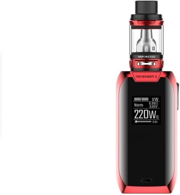 Vaporesso Revenger X e-Cigarette (Rojo) Kit 220w con NRG Mini Tanque 2ml, Este producto no contiene nicotina ni tabaco
