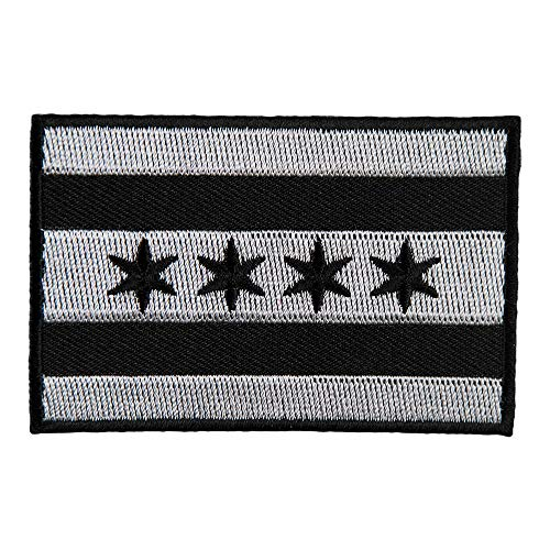 Chicago Black & Gray Flag Patch, City Flag Patches