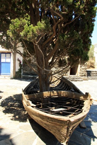Dali's Tree-invaded Boat, Port Lligat - Cadaques, Catalonia, Spain - Framed Photo Art Print, 11