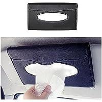 Ramanta Car Sun Visor Tissue Paper Box/Case/Pouch Interior Decoration Accessories Tissue Paper Holder for Hyundai Creta, (Pack of 1, Black)