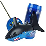 Timeracing Fashion Shark Waterproof Remote Control Swimming Fish Kids Children Toy Gift (Blue Black)