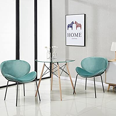 GreenForest Dining Chairs Large Shell Chairs Living Room Chairs