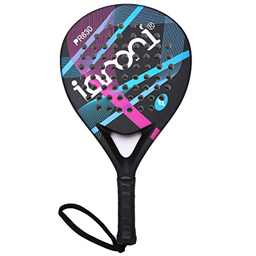 Platform Tennis Padel Beach Racket-IANONI Tennis Paddle With Carbon Fiber Face and EVA Memory Foam Core-Used Interchangeably for Padel,Paddle Tennis, Platform Tennis & Beach Tennis (Racquets Platform)