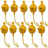 FishYuan 10 Pack Plant Yoyo Grow Hanger with Stopper, Adjustable Indoor Plant Support Yo Yo