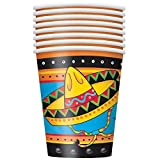 9oz Mexican Party Paper Cups by Unique Party