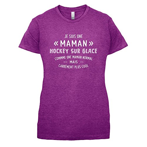 une maman normal hockey sur glace - Femme T-Shirt - Violet - XXL
