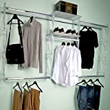 KiO Closet Organizer System - Professional Grade - Revolutionary Single Track Design For Easy Installation - Lifetime Guarantee