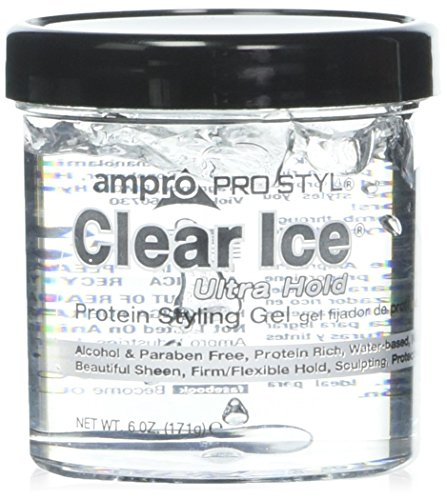 - 2PCS Ampro Style Clear Ice Protein Hair Styling Gel, 6 Ounce