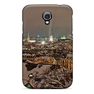 Awesome City In Winter At Night Flip Case With Fashion Design For Galaxy S4