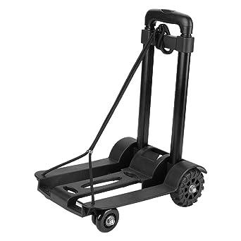 Carrito de mano plegable para equipaje de mano, resistente, capacidad de carga de 75