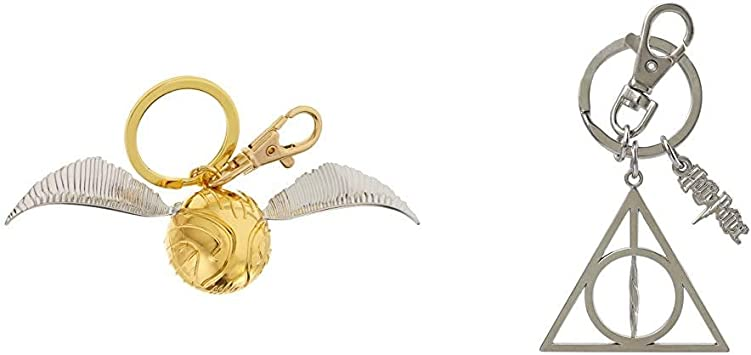 Harry Potter Quidditch Golden Snitch Rubber Keyring New Official Merchandise