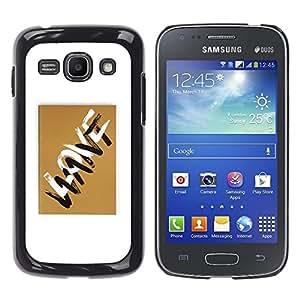Ihec Tech Cartas de Amor Quieres Oro Marrón Blanco / Funda Case back Cover guard / for Samsung Galaxy Ace 3