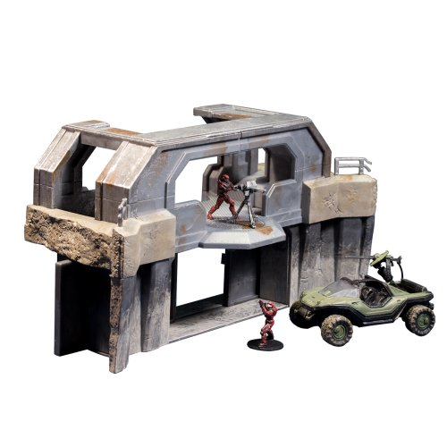 Halo 2 Warthog - McFarlane Toys Halo Micro Ops Series 1: High Ground Gate with Warthog and 2 Spartans