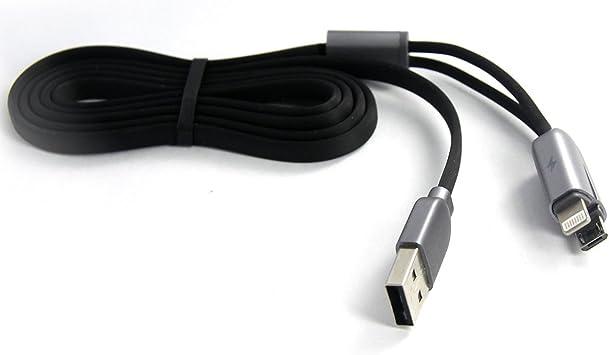 REMAX RC-025t 2 en 1 cargador rápido Micro/ + 8 pines cable de ...
