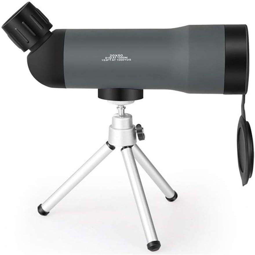 Telescopio Monocular Ámbito portátil 20x50 Telescopio zoom de alta definición con la observación de trípode al aire libre caza de aves Senderismo Monoculares ( Color : Blue , Size : 21 x 6 x 7cm )