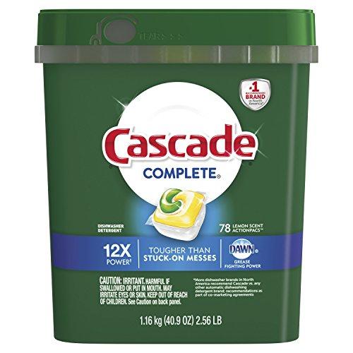 Automatic Cascade Dishwasher (Cascade Actionpacs Dishwasher Detergent, Lemon, 78 Count)