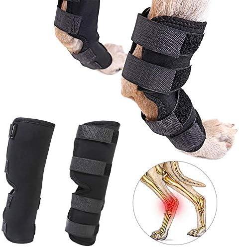 Hundebeinstütze, Hund Vorderbein Gelenkschutz, Hunde Hintere Bein-Klammer-Verpackungs-Sleeve Schützt Wunden Pet Brace Heals Verhindern Verletzungen Verstauchung Verlust Der Stabilität Von Arthritis