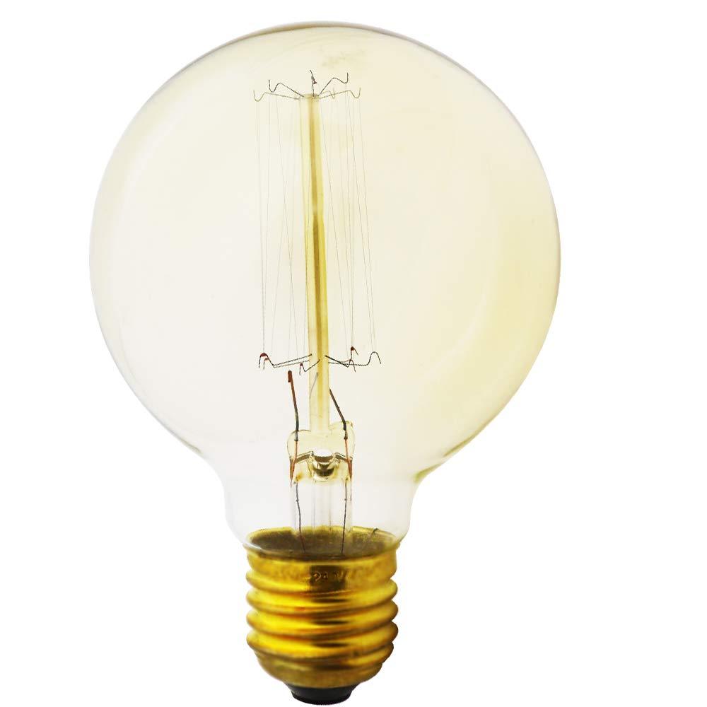 1 unidad L/ámpara de bombilla para horno,E27 40 W 220-240 V,bombilla de filamento blanco c/álido,alta temperatura 500/° C,bombillas incandescentes resistentes para horno el/éctrico gas vapor,vapor puro