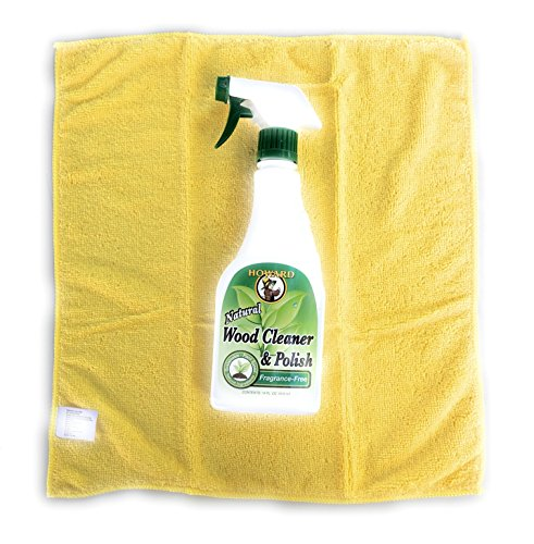 Howard All Natural Wood Furniture Cleaner and Polish - Fragrance Free Natural Wood Polish with Microfiber Cloth - Scratches Of How Do Glasses You Get Out
