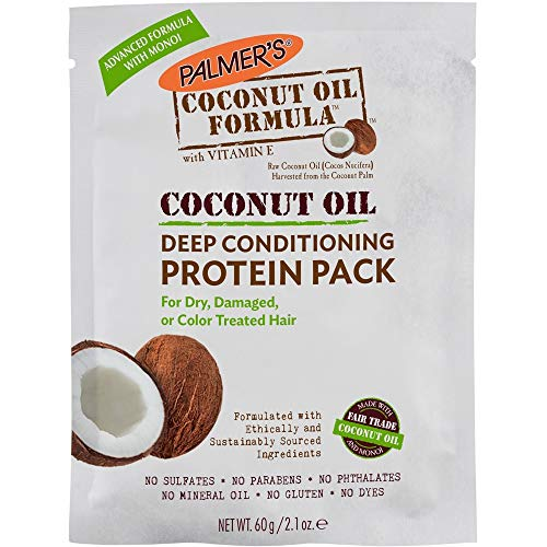 Coconut Conditioning Mask - Palmers Coconut Oil Formula Deep Conditioning Protein Pack, 2.1 Oz (Pack of 4)