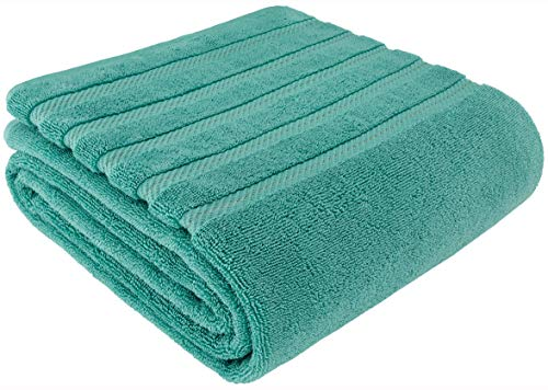 American Soft Linen Premium, Luxury Hotel & Spa Quality, 35x70 Extra Large Jumbo Size Bath Towel, Bath Sheet Cotton for Maximum Softness and Absorbency, [Worth $34.95] Turquoise ()