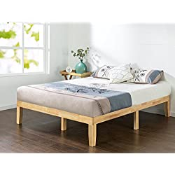 Zinus 14 Inch Wood Platform Bed/No Boxspring Needed/Wood Slat Support/Natural Finish, Full