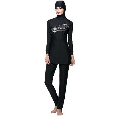 d55a7e8eada53 Ababalaya Womens  Modest Burkini Swimsuit Muslim Swimwear Hijab Swimsuit