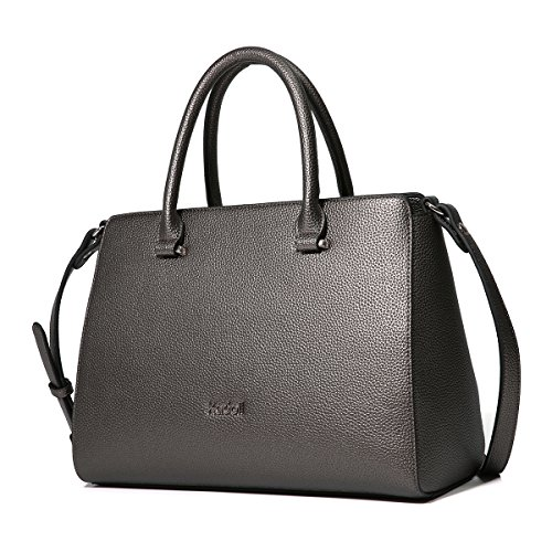 Nickel Tote Handbags White Vintage Kadell Handle Leather Soft Bags Black Large Womens Casual Retro Capacity Shoulder Top Purse qxH4waPx