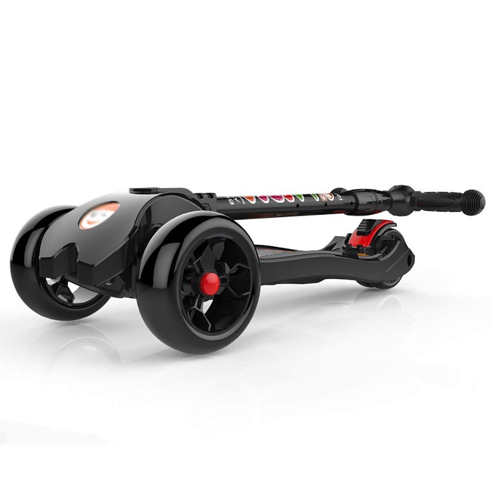 キックボード本体 150kgベアリング用の折りたたみキックスクーター、2-14歳の子供のための調整可能なキッズスクーター、点滅ホイール&リアブレーキ、非電気 B07KXRZWY6