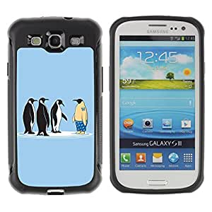 Hybrid Anti-Shock Defend Case for Samsung Galaxy S3 / Penguins