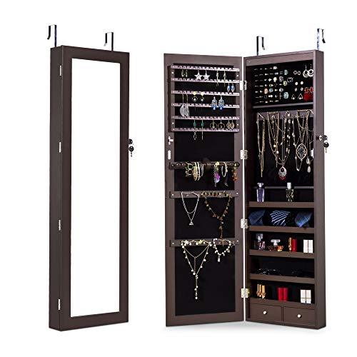 Wilcum Wall Mounted Jewelry Cabinet Door Mounted