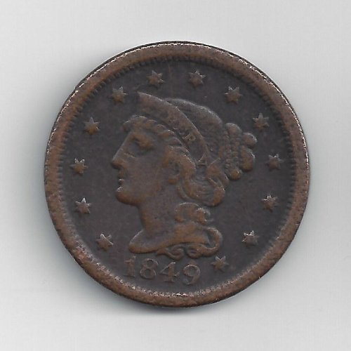 1839-1857 Braided Hair Large Cent by US Mint